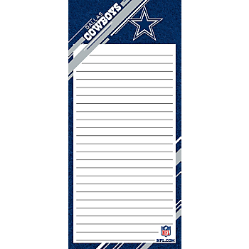 Dallas Cowboys List Pad