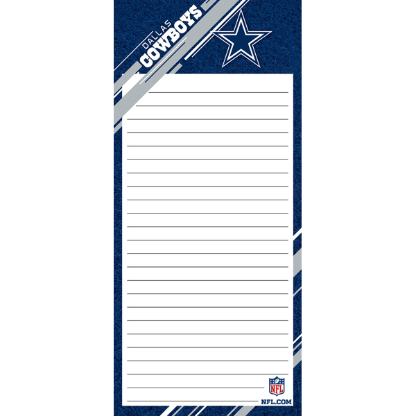 Dallas Cowboys List Pad