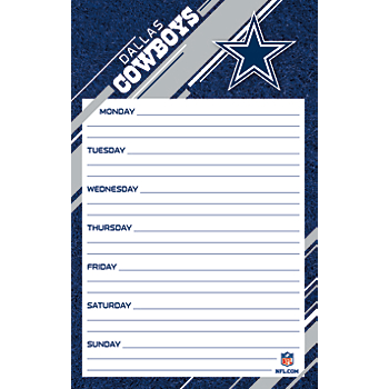 Dallas Cowboys Weekly Planner