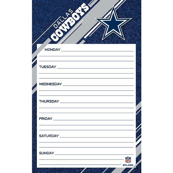 Dallas Cowboys Weekly Planner