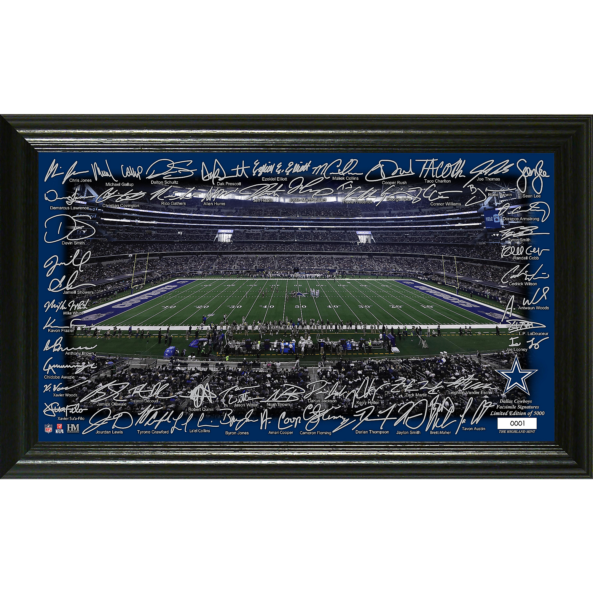 Dallas Cowboys 2019 Signature Gridiron Framed Photo