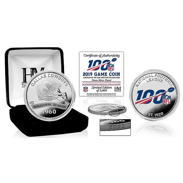 Dallas Cowboys 2019 Official NFL 100 Silver Game Flip Coin