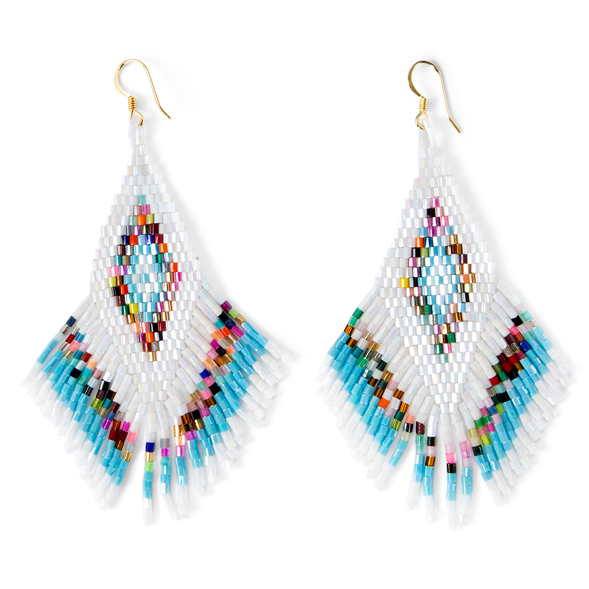 Studio Gemelli Party Tassel Seed Bead Fringe Earrings