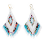 Studio Gemelli Party Tassel Seed Bead Fringe Earrings