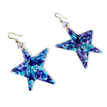 Studio Gemelli Acrylic Flake Star Earrings