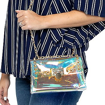 Gemelli Roxie Holographic Flap Over Handbag