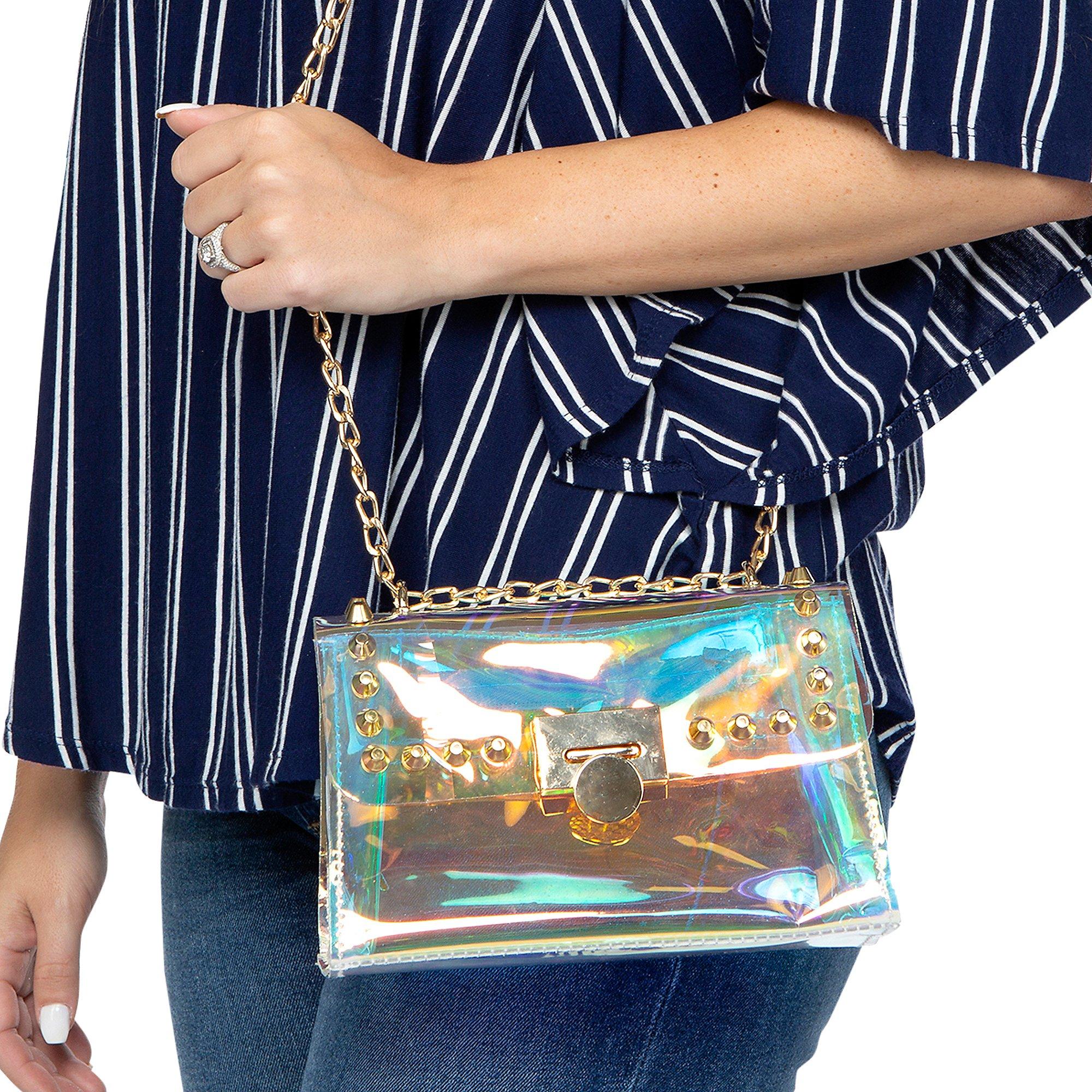 Studio Gemelli Roxie Holographic Flap Over Handbag