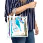 Studio Gemelli Tantalize Silver Holographic Handbag
