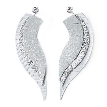 Studio Clever Bear Leathers Angel Wings Earrings