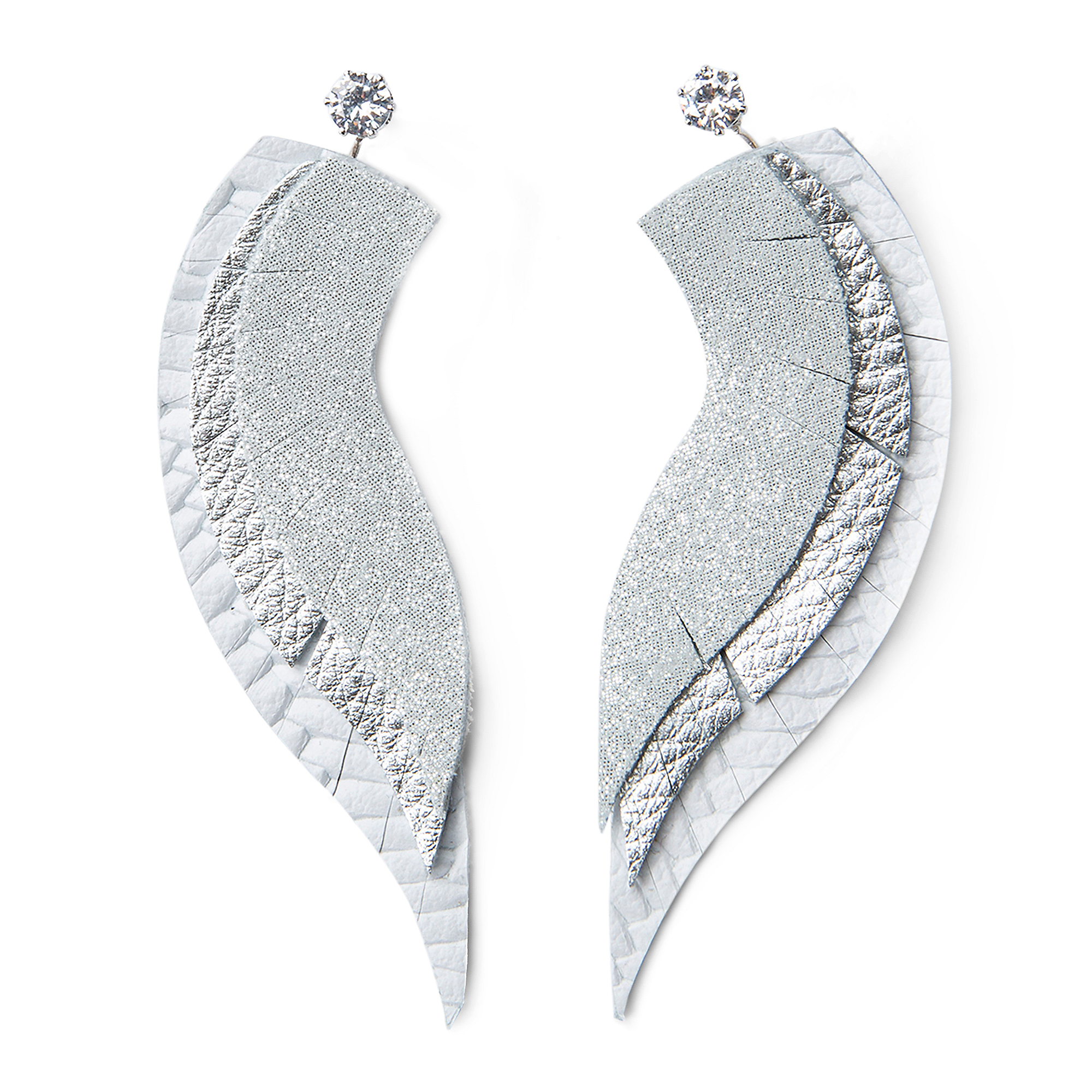 Studio Clever Bear Leathers Angel Wings Earrings