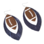 Studio Clever Bear Leathers Football Fringe Earrings