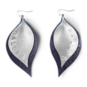 Studio Clever Bear Leathers Double Leaf Earrings
