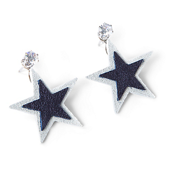 Studio Clever Bear Leathers Star Earrings