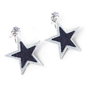 Studio Clever Bear Leathers Star Earrings