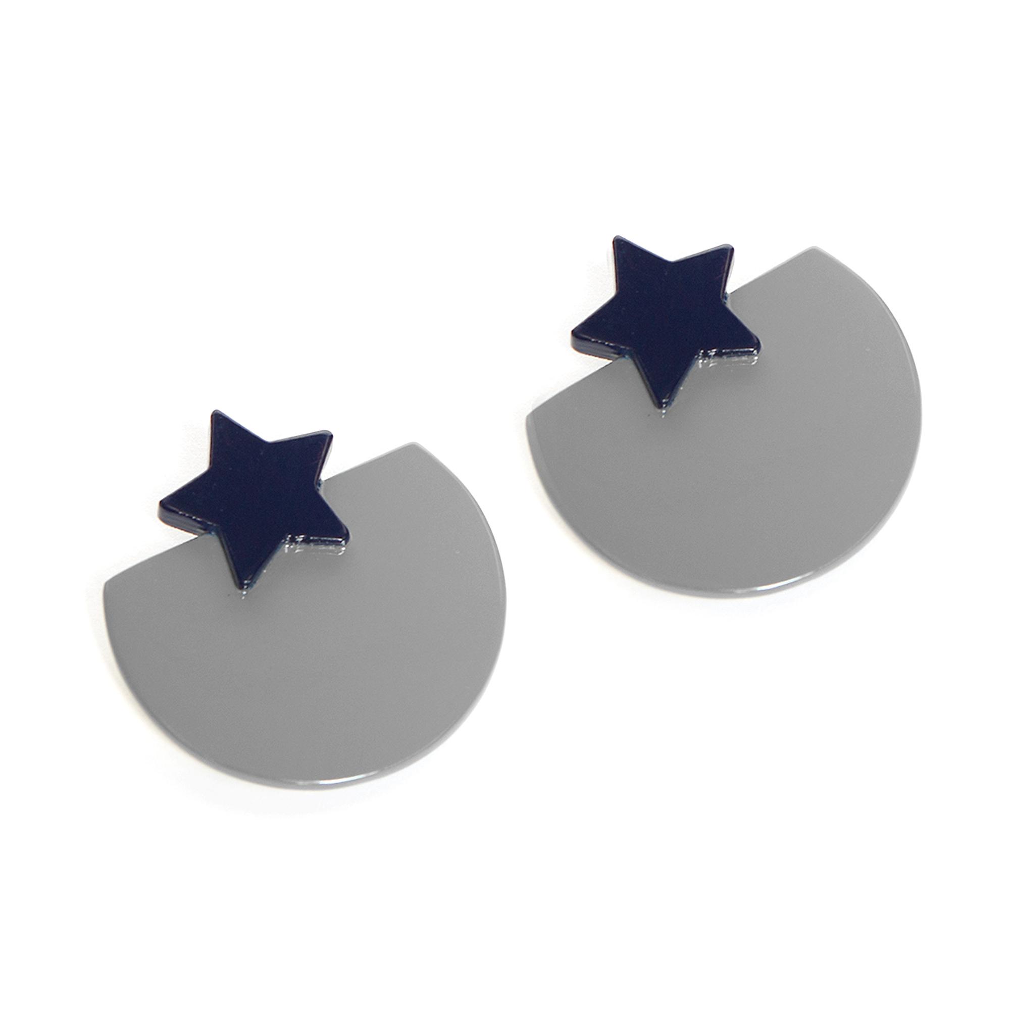 Studio Sunshine Tienda Buffalo Horn Bella Silver Earrings
