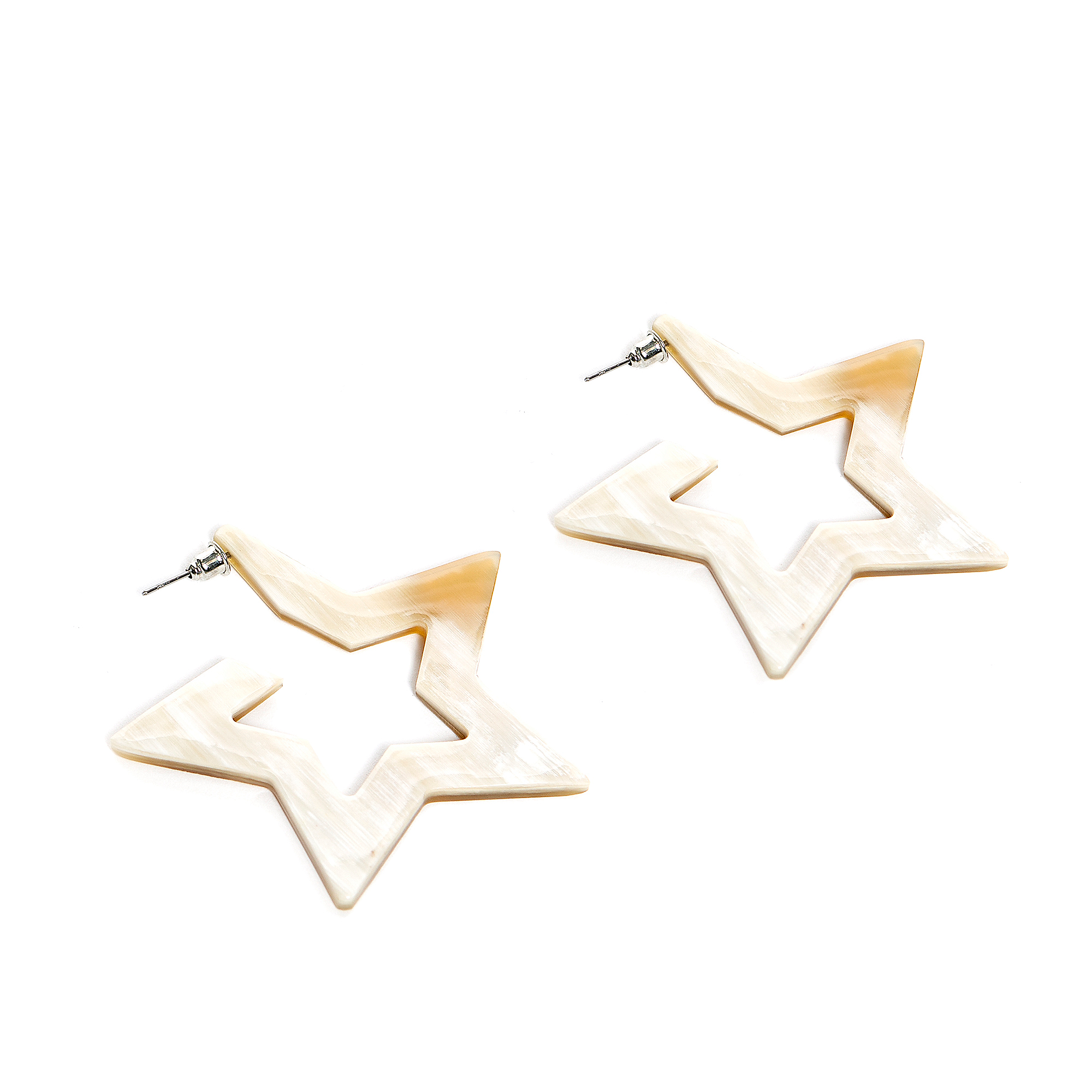 Studio Sunshine Tienda Star Cutout Buffalo Horn Earrings