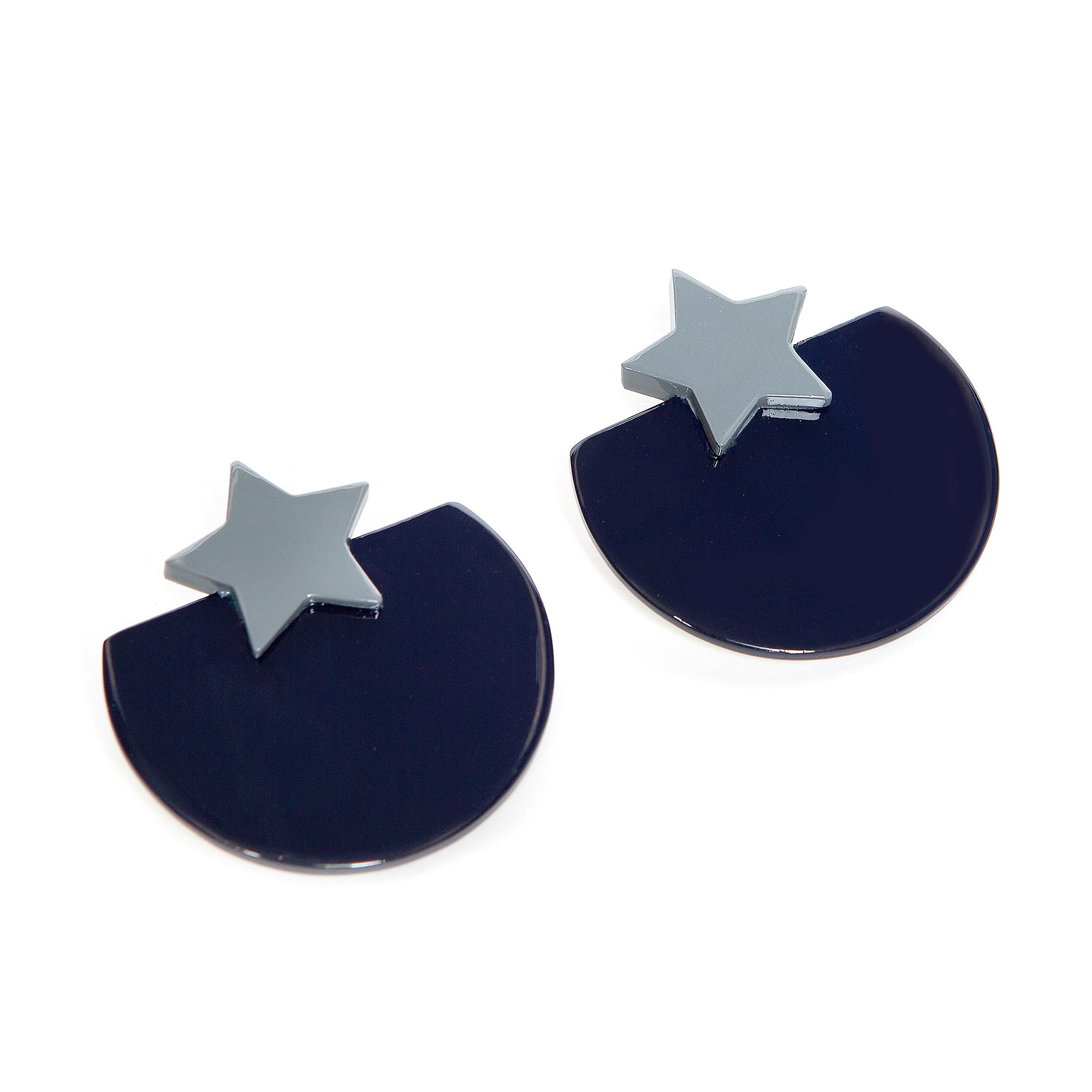 Studio Sunshine Tienda Buffalo Horn Bella Navy Earrings