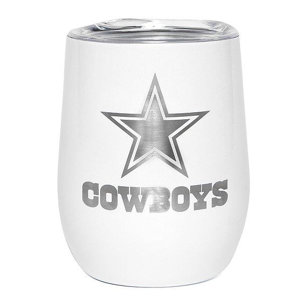 Dallas Cowboys 10 oz. Pearl Wine Tumbler