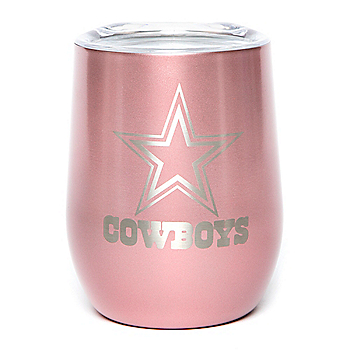 Dallas Cowboys 10 oz. Rose Gold Wine Tumbler