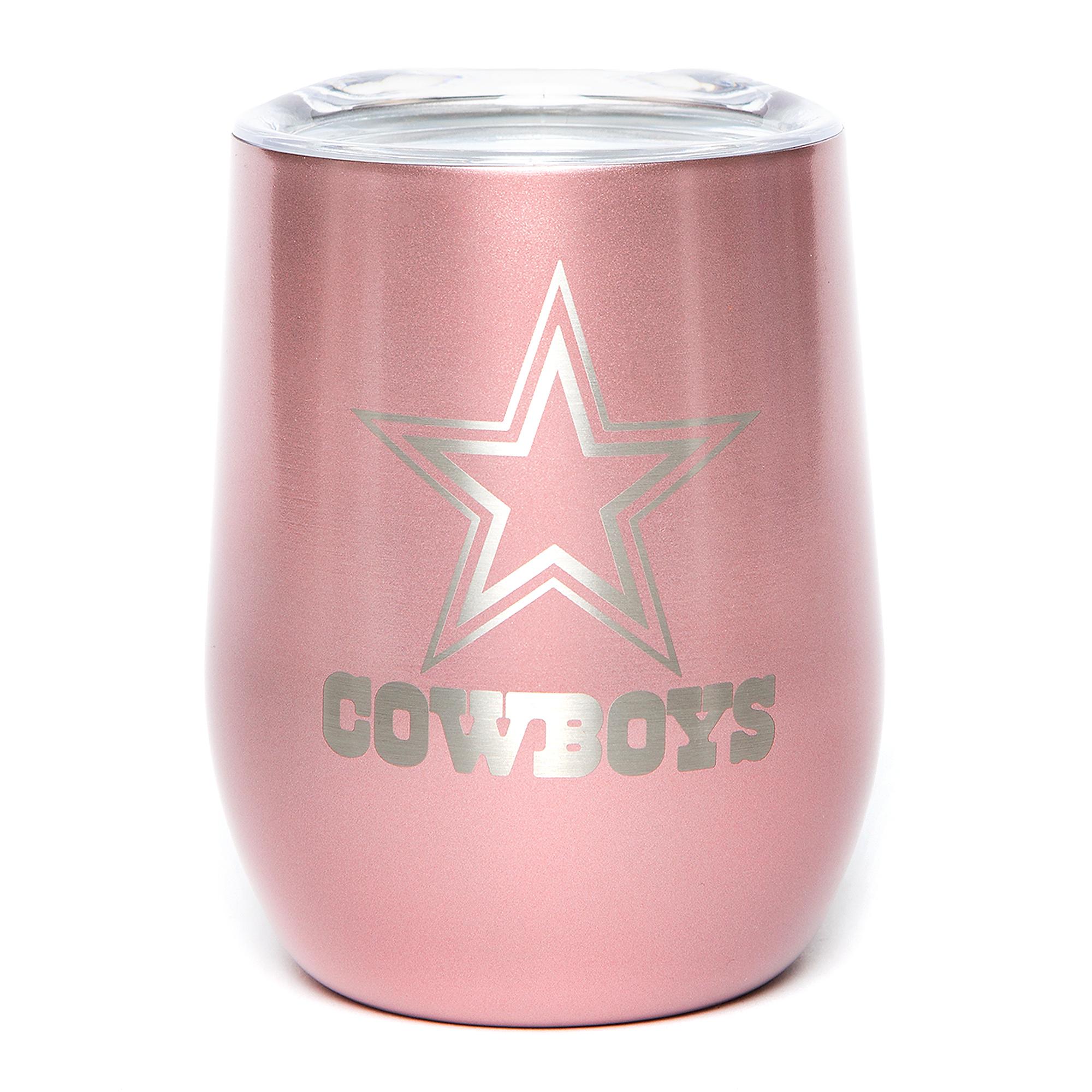 Dallas Cowboys 10 oz. Rose Gold Wine Tumbler