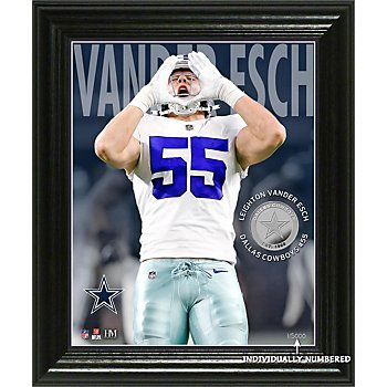 Dallas Cowboys Leighton Vander Esch 3D Elite Series Photo Mint Frame