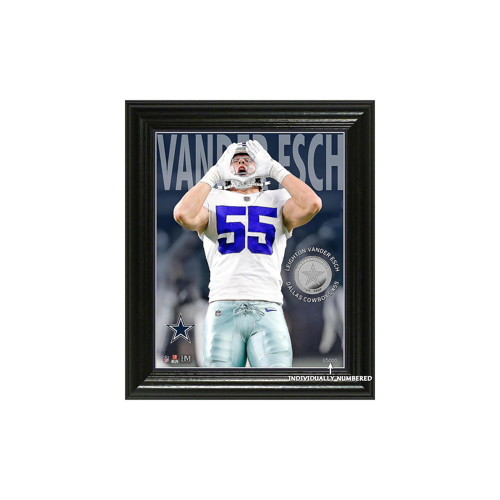 competitive price f46f2 f5894 Dallas Cowboys Leighton Vander Esch 3D Elite Series Photo Mint Frame