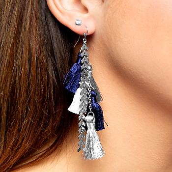 Studio Erimish Gameday Tassel Earrings