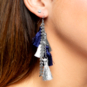Studio Erimish Gameday Tassel Earrings
