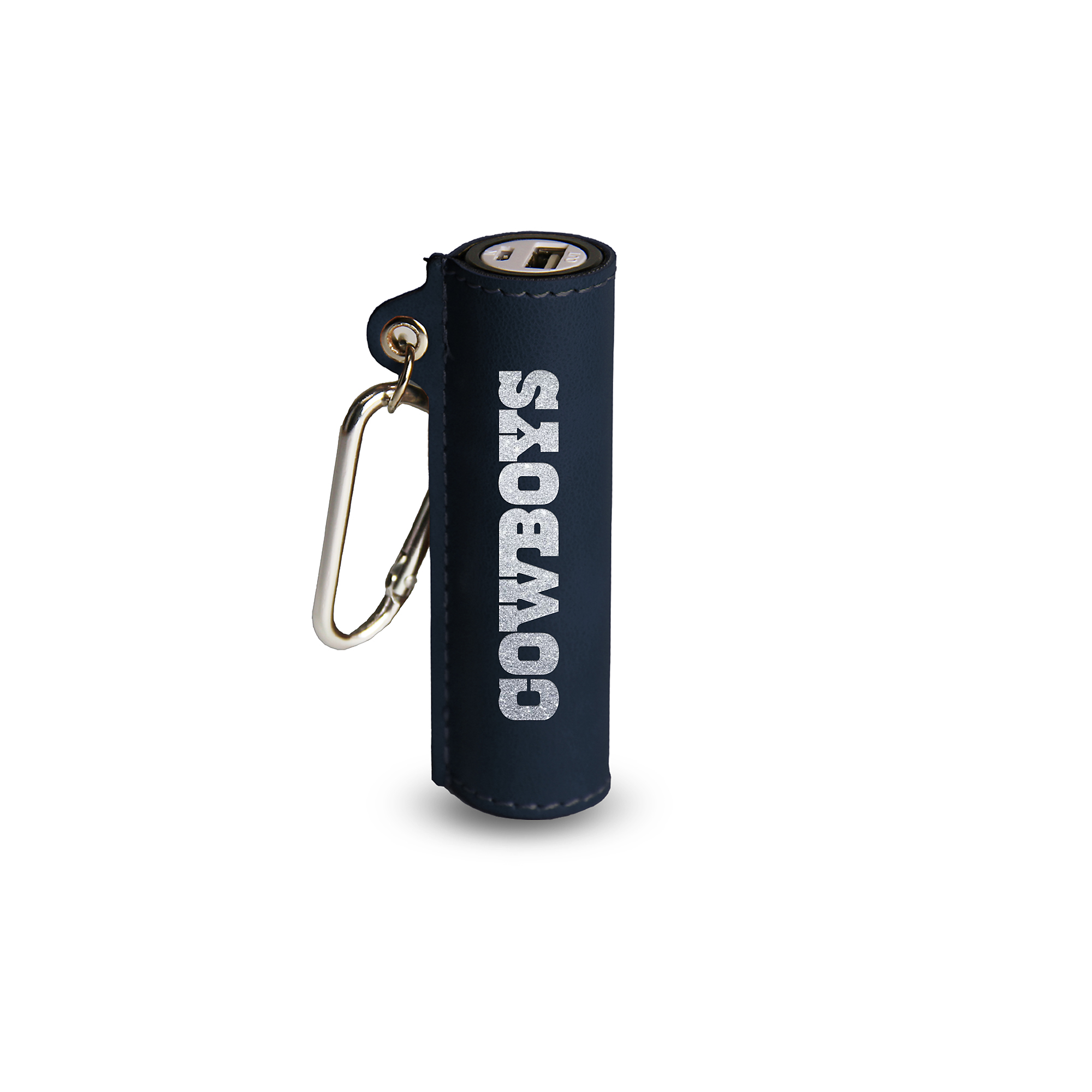 Dallas Cowboys Navy Portable Charger Keychain