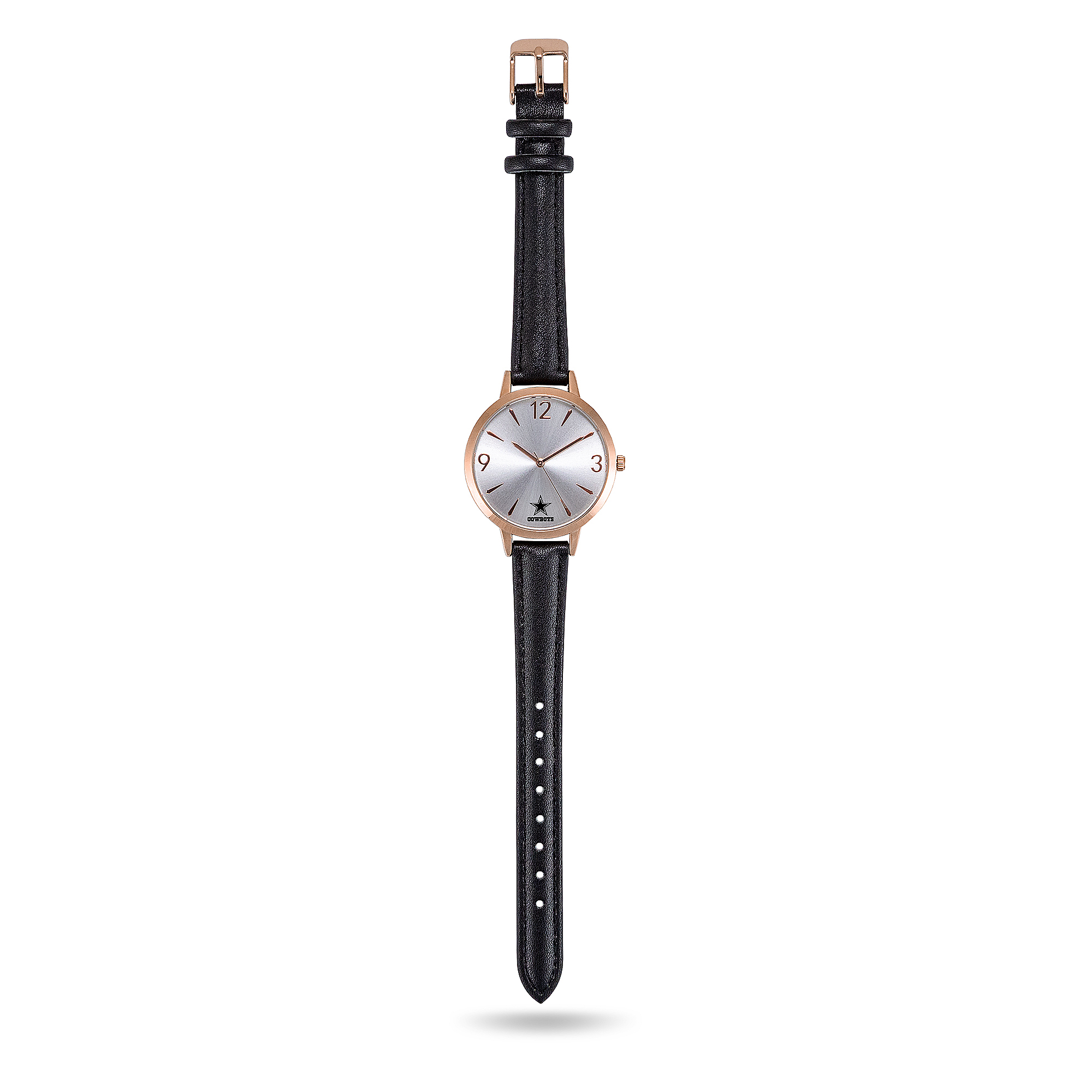 Dallas Cowboys Womens Black Leather Watch
