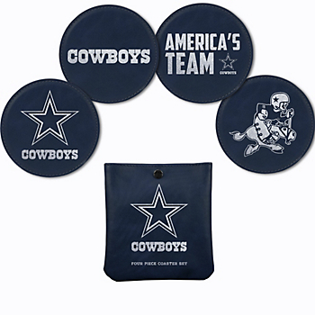 Dallas Cowboys Laser Engraved Coaster Set
