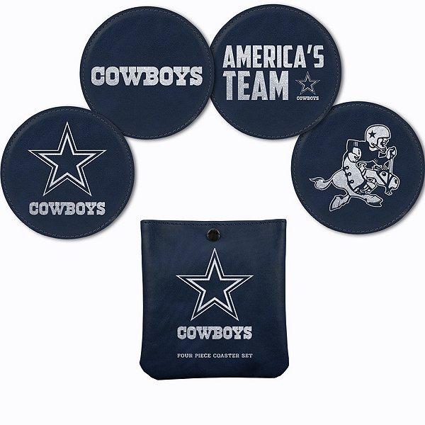 Dallas Cowboys Laser Engraved Coaster Set
