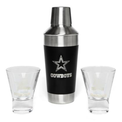 Dallas Cowboys Stainless Steel Shaker & Martini Set