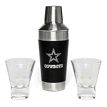 Dallas Cowboys Stainless Steel Shaker & Martini Set