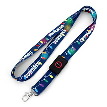 Dallas Cowboys Holiday Light-up Lanyard