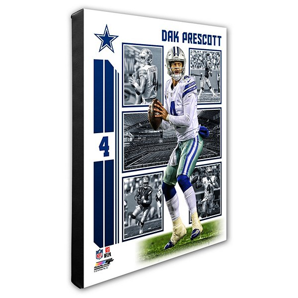 Dallas Cowboys 16x20 Dak Prescott Collage Canvas