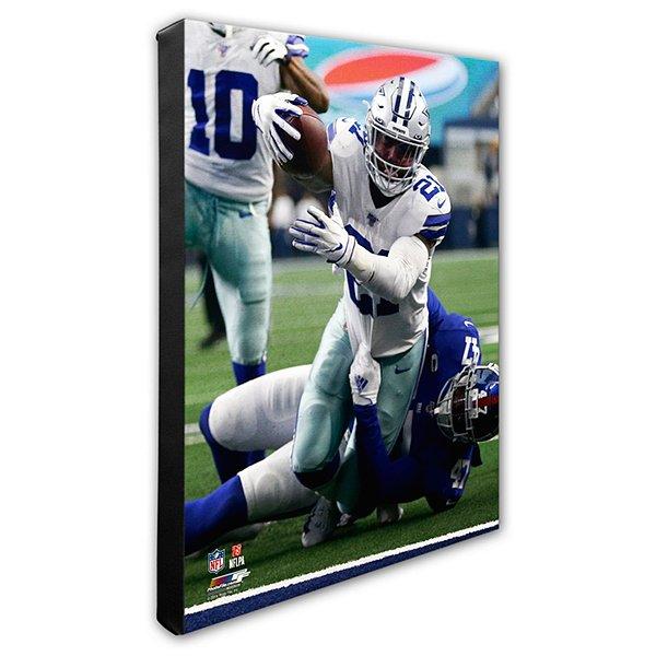 Dallas Cowboys 16x20 Ezekiel Elliott Action Canvas