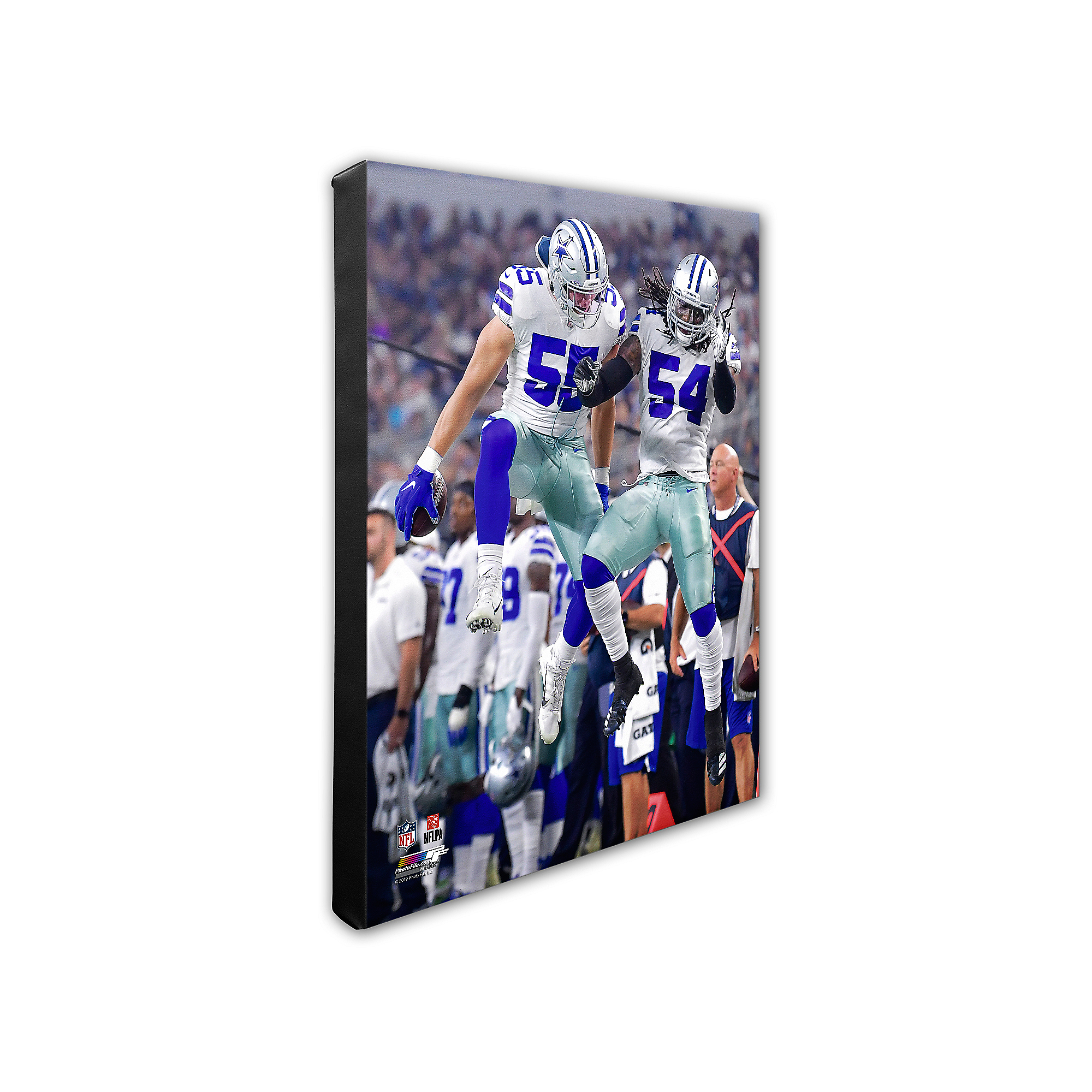 Dallas Cowboys 16x20 Leighton Vander Esch/Jaylon Smith Action Canvas