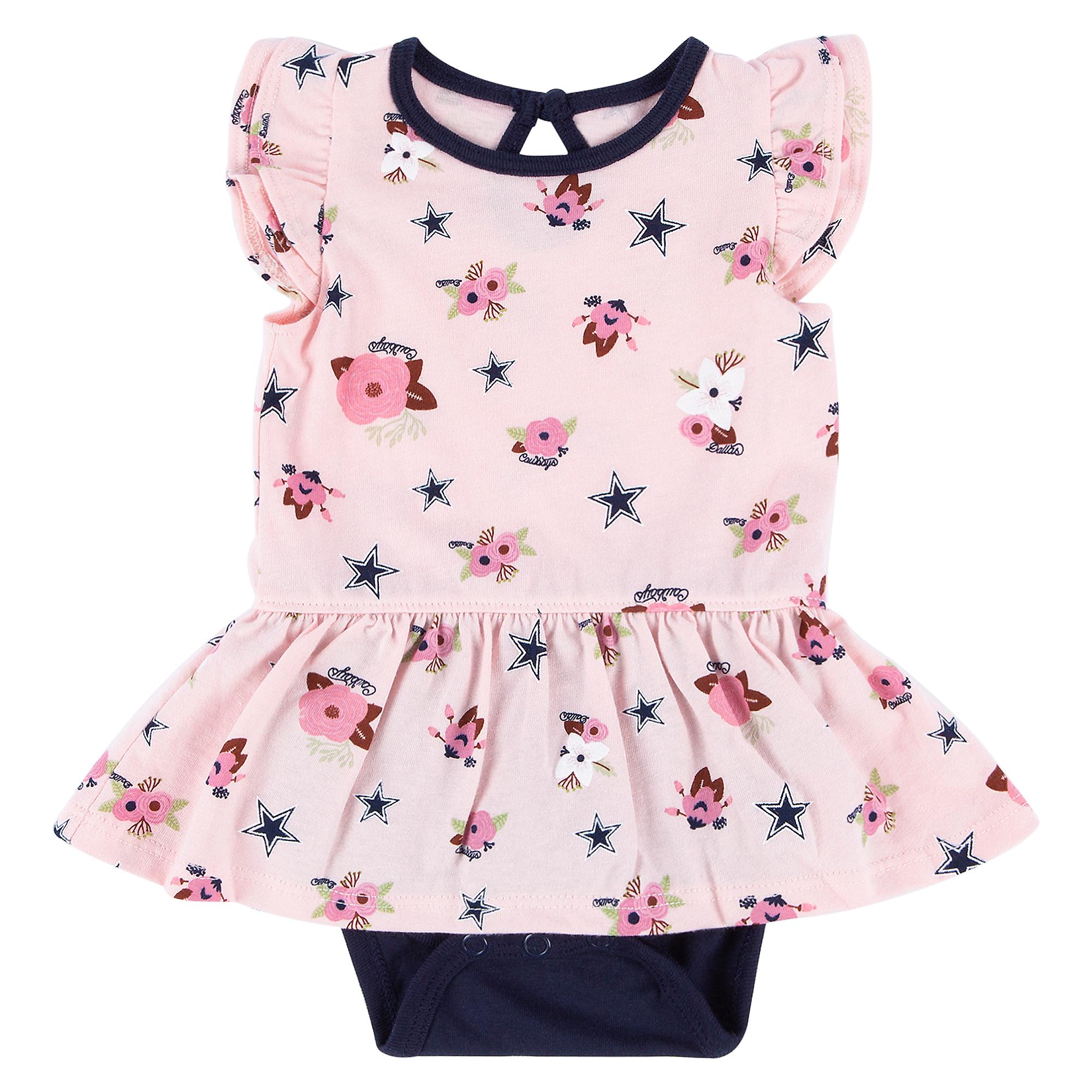 Dallas Cowboys Infant Margot Bodysuit Dress