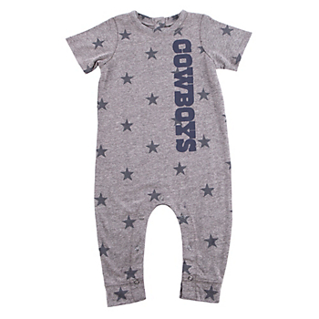 Dallas Cowboys Infant Bradshaw Short Sleeve Jumpsuit