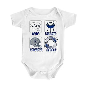 66d38e9a084 Dallas Cowboys Infant Nap Repeat Onesie