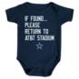 Dallas Cowboys Infant Return To Onesie