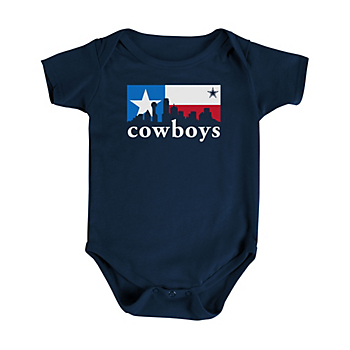 Dallas Cowboys Infant Texas Box Skyline Short Sleeve Bodysuit