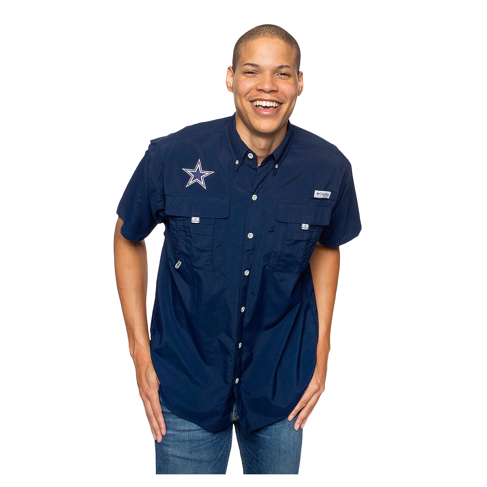 Dallas Cowboys Columbia Mens PFG Bahama Short Sleeve Shirt