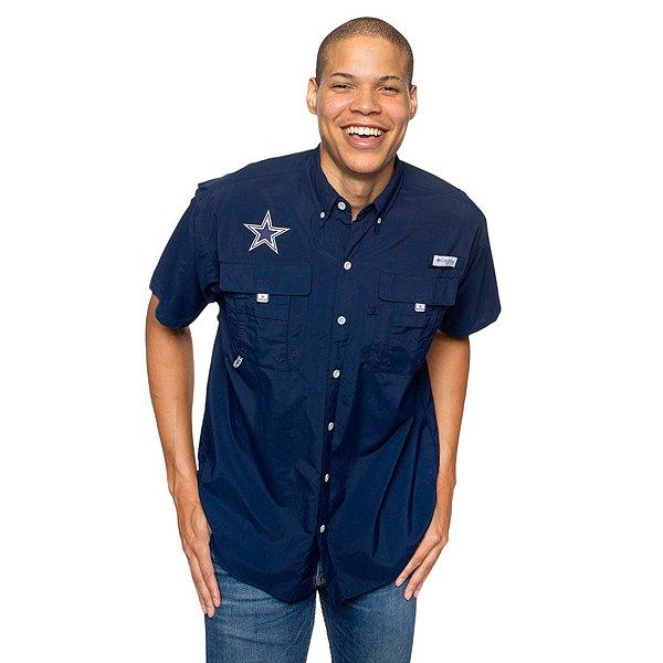 Dallas Cowboys Columbia Mens PFG Bahama Short Sleeve Shirt