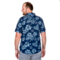Dallas Cowboys Mens Hawaiian Floral Palm Button Down Shirt