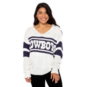 Dallas Cowboys Team LJ Womens Stripe Sweater
