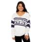 Dallas Cowboys Lauren James Womens Stripe Sweater