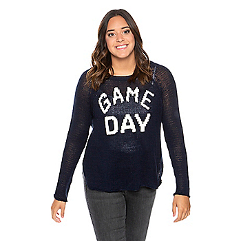 Studio Wooden Ships Game Day Raglan Cotton Sweater