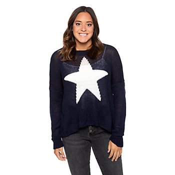 Studio Wooden Ships Star Slouchy Crew Cotton Sweater